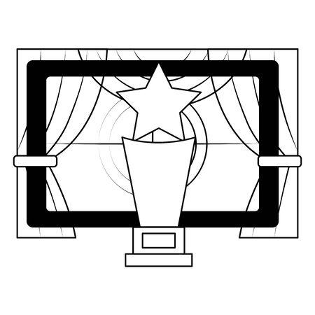 screen award curtains film cinema design vector illustration Illustration