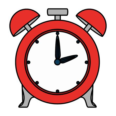 alarm clock time reminder icon vector illustration design Ilustrace