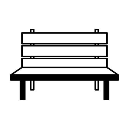 outline bench park on white background vector illustration Illusztráció