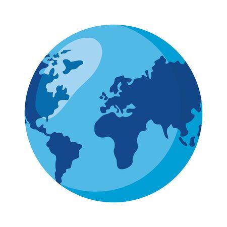 world planet map on white background vector illustration