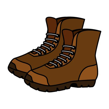 boots shoes adventure accessory icon vector illustration design
