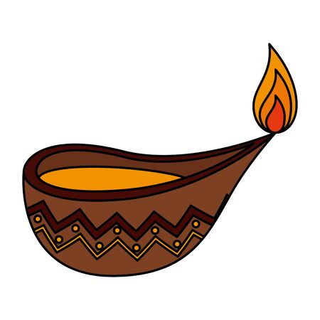 candle indian ornamental accessory icon vector illustration design