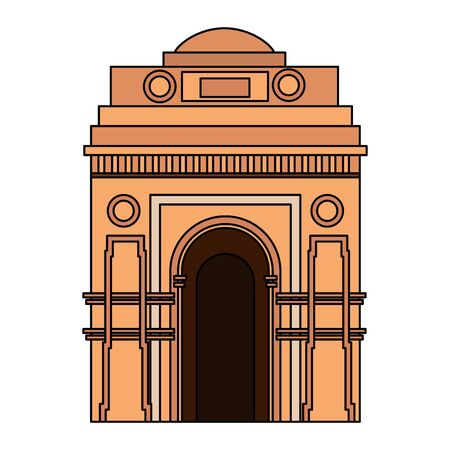 indian gate arch monument icon vector illustration design Illustration