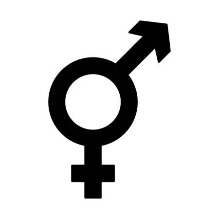 gender symbol lgbt pride love vector illustration