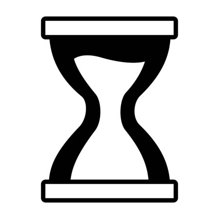 hourglass clock time sand icon on white background vector illustration