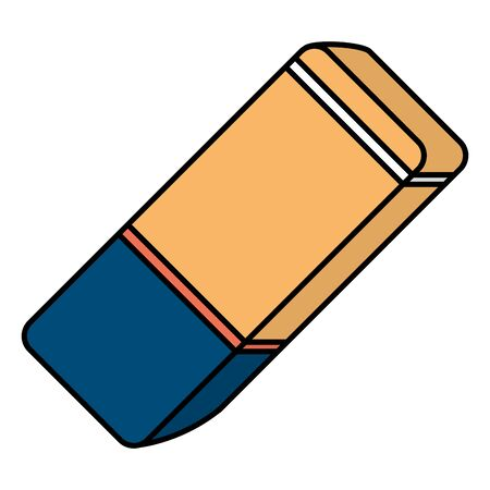eraser school supply isolated icon vector illustration design