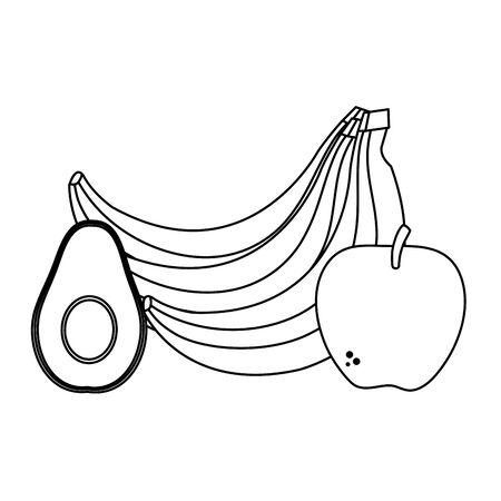 fresh vegetables and fruits healthy food vector illustration design 일러스트