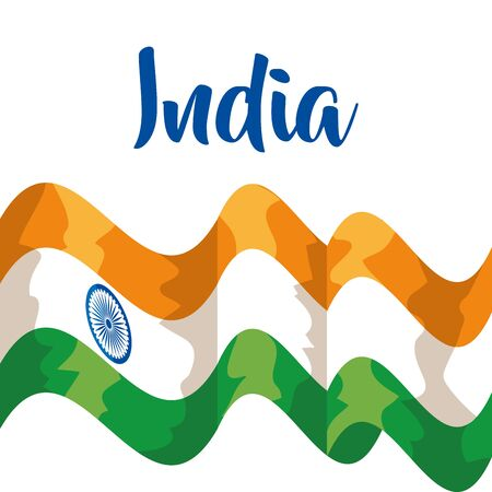 india flag and tradional and national patriotism to independence day vector illustration
