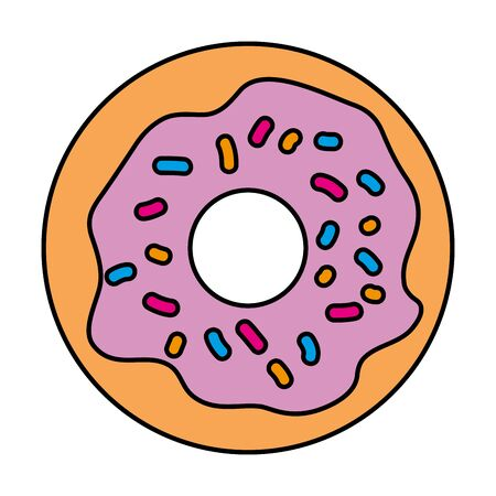 delicious sweet donut bakery icon vector illustration design