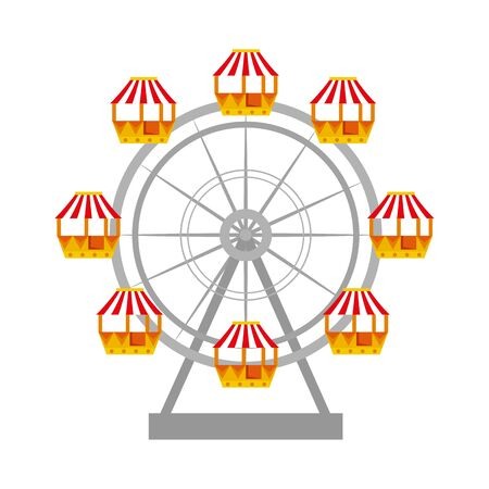 panoramic wheel carnival icon vector illustration design Ilustração