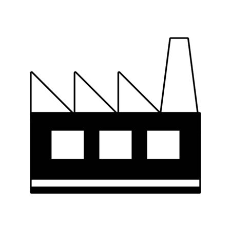 factory industrial building white background vector illustration