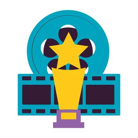 film reel strip award cinema movie vector illustration Illustration