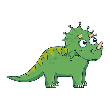 cute dinosaur comic character icon vector illustration design
