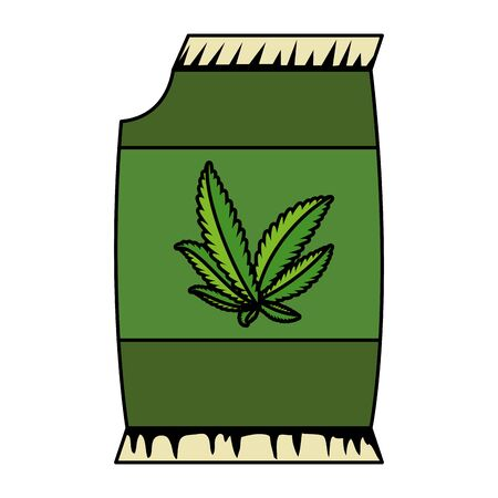 cannabis seeds bag packing icon vector illustration design Stock Vector - 129418055