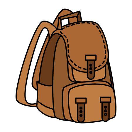 camping travel bag accessory icon vector illustration design