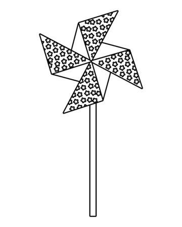 wind spin toy united states of america flag vector illustration design Ilustrace
