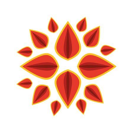 decorative mandala ethnic boho style vector illustration design Vektoros illusztráció