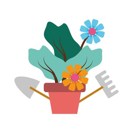 house plant pot isolated icon vector illustration desing