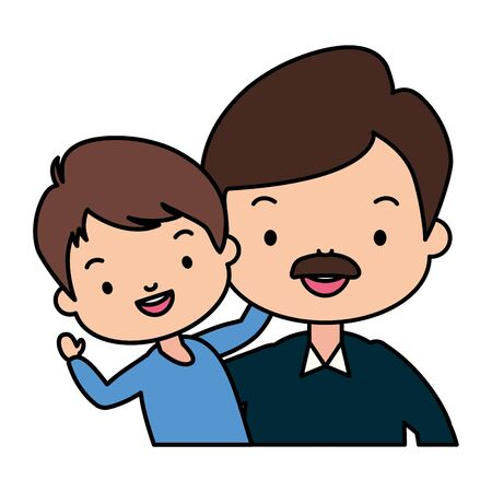 dad and son - fathers day vector illustration design Banco de Imagens - 129424077