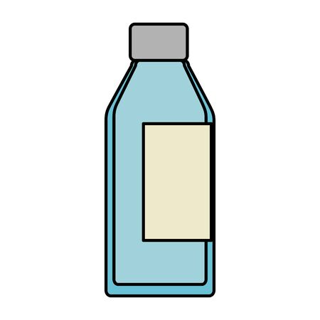 bottle glass isolated icon vector illustration design  イラスト・ベクター素材