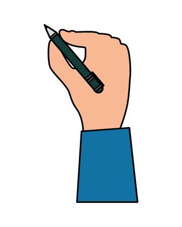 hand writing with pen writer vector illustration design Ilustração