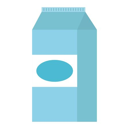 milk box packing icon vector illustration design