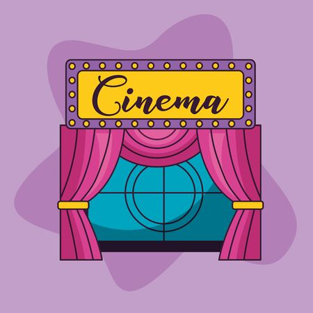 screen countdown curtain billboard cinema movie Foto de archivo - 129459989