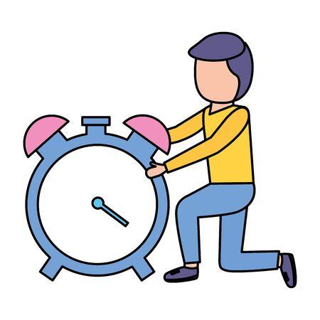 business man alarm clock time vector illustration vector illustration