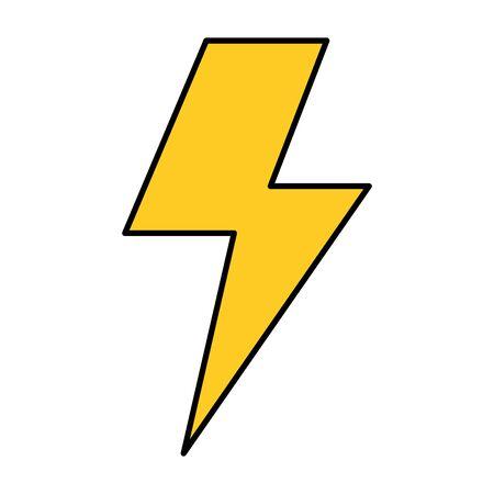 Diseño de ilustración de vector de icono aislado de potencia de rayo Ilustración de vector