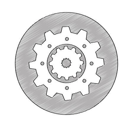 gears machine isolated icon vector illustration design Zdjęcie Seryjne - 129512612