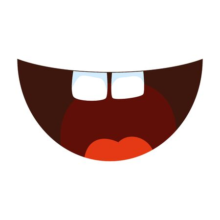 crazy mouth fools day icon vector illustration design Иллюстрация
