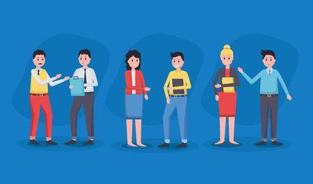 team people employee office vector illustration design Иллюстрация