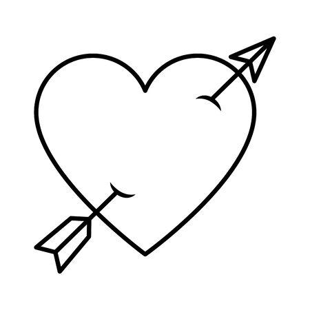 heart love with arrow vector illustration design Standard-Bild - 129482512