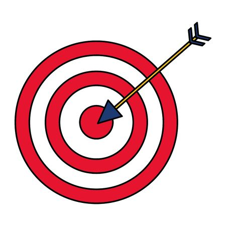target arrow strategy on white background vector illustration