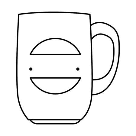 mug with company emblem vector illustration design Ilustracja