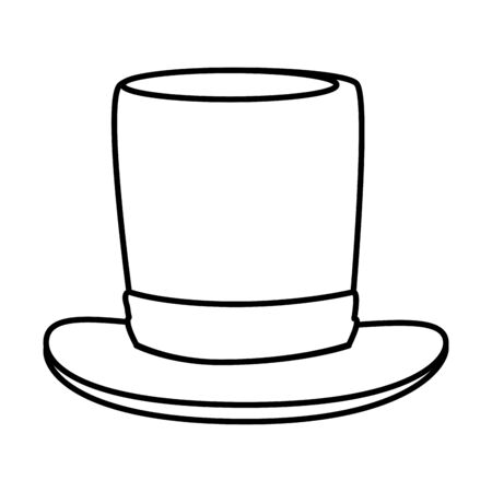 gentleman top hat accessory vector illustration design Ilustração