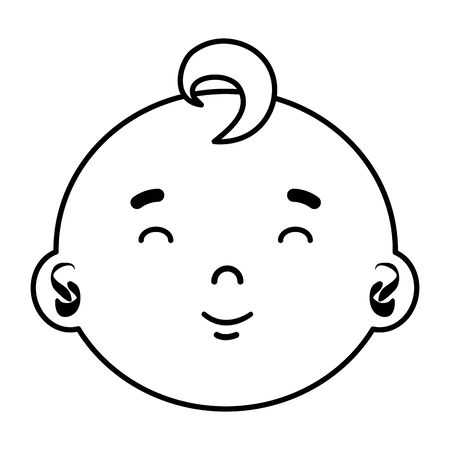 little male baby head character vector illustration design Archivio Fotografico - 129482657