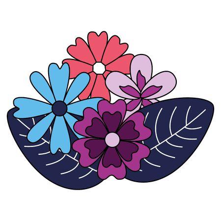 arrangement floral flowers foliage vector illustration design Ilustração