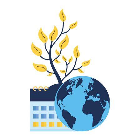 world calendar plant nature vector illustration design