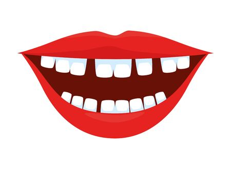 mouth with comics teeth vector illustration design  イラスト・ベクター素材