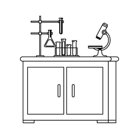 laboratory drawer isolated icon vector illustration design