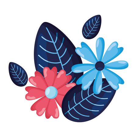 arrangement floral flowers foliage vector illustration design Reklamní fotografie - 129374988