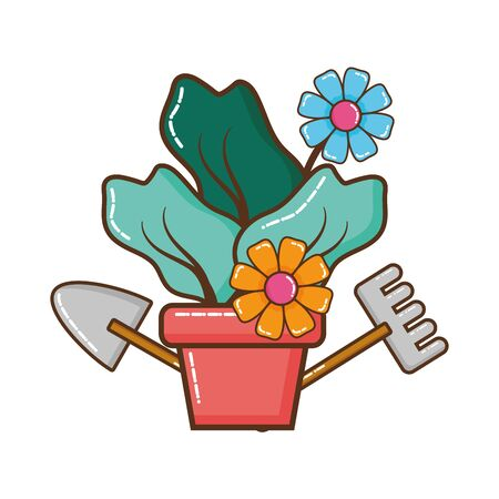 house plant pot isolated icon vector illustration design Reklamní fotografie - 129375445