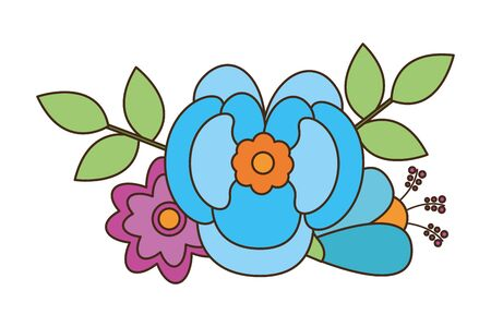 flower floral decoration on white background vector illustration Reklamní fotografie - 129375706