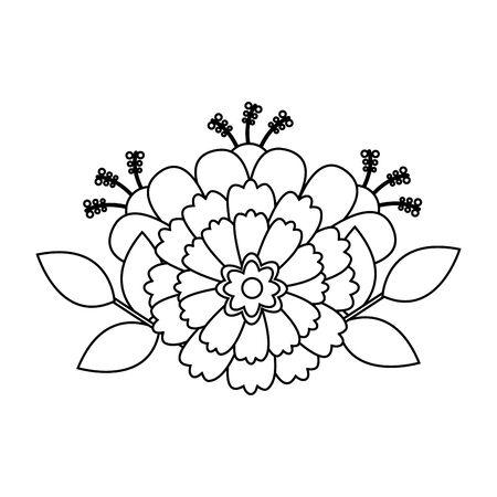 flower floral decoration on white background vector illustration Reklamní fotografie - 129375728