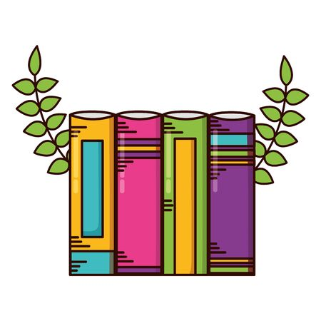 books learn school supplies vector illustration design Stock Illustratie