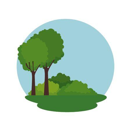 forest landscape scene icon vector illustration design Banque d'images - 129374271
