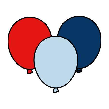 balloons helium floating icons vector illustration design Çizim