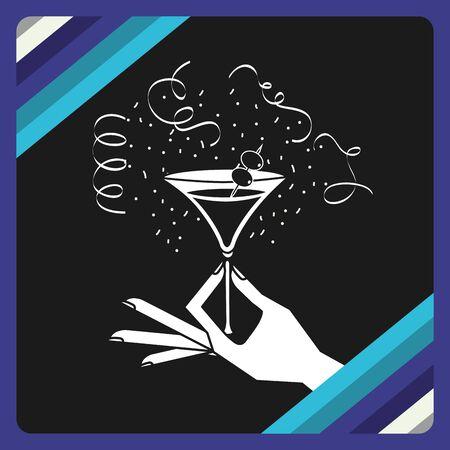 retro party design, vector illustration graphic Çizim