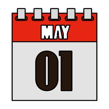 one may calendar icon vector illustration design